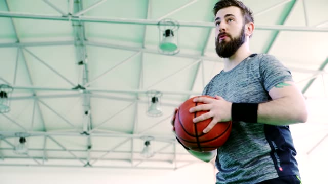 Man Dribbling Basketball video