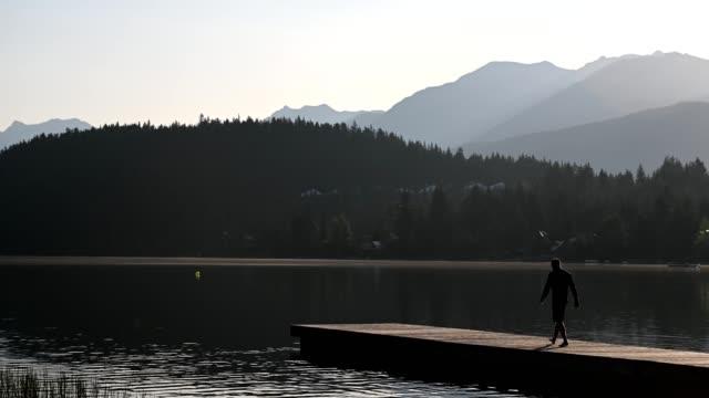 Man enjoying natures beauty