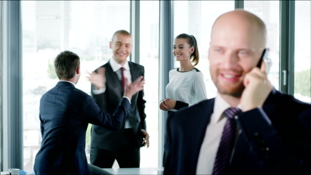 Man executive smiling video