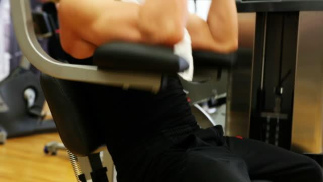 Man exercising at gym video