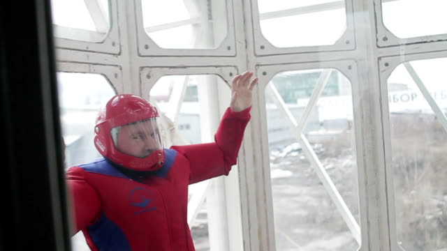 Man exits the wind tunnel video