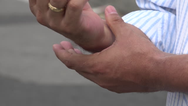 Man Experiencing Pain in Hand video