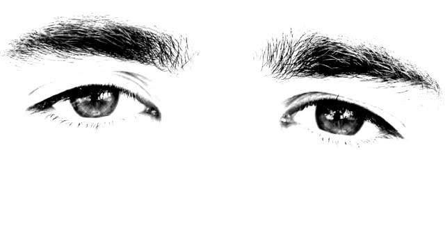 Man eyes looking video