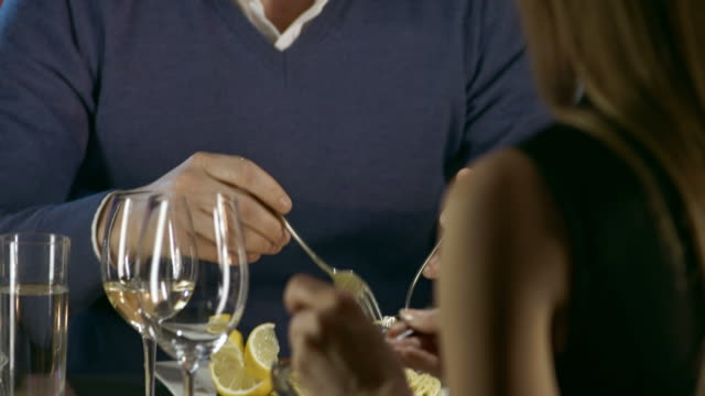 HD: Man Feeding A Woman At Dinner video