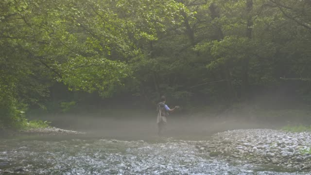 Man Fly Fishing in Vermont video