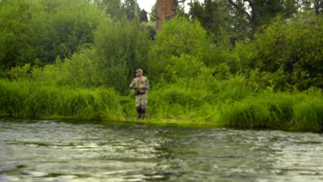 Man fly fishing video