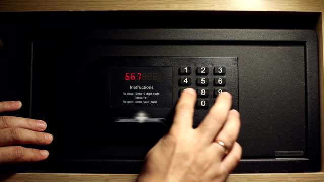 A man gets the money from a safe deposit box video