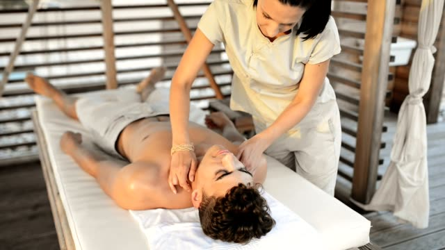 Man Getting A Body Massage Stock Video More Clips Of 20  Istock