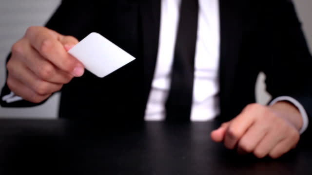 man giving businesscard - business card stock videos & royalty-free footage