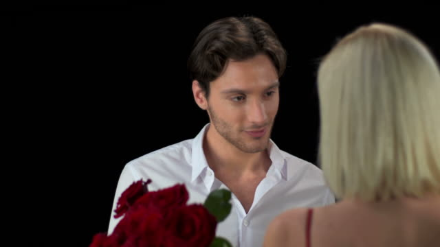 HD: Man Giving Flowers To His Girlfriend video