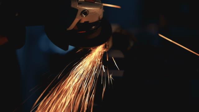 Man grinding metal video
