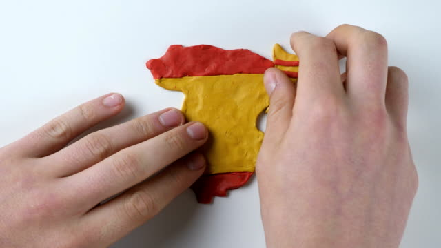 Man hands separated Catalonia from Spain video