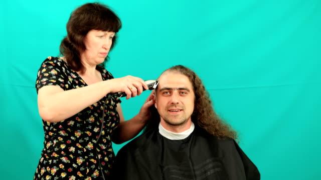 Man having an haircut video