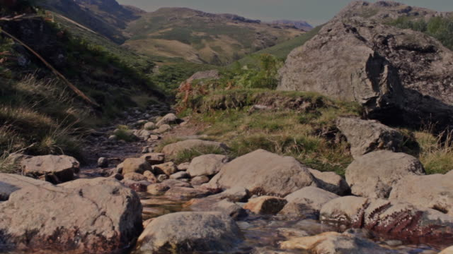 Man hikes mountain trail video