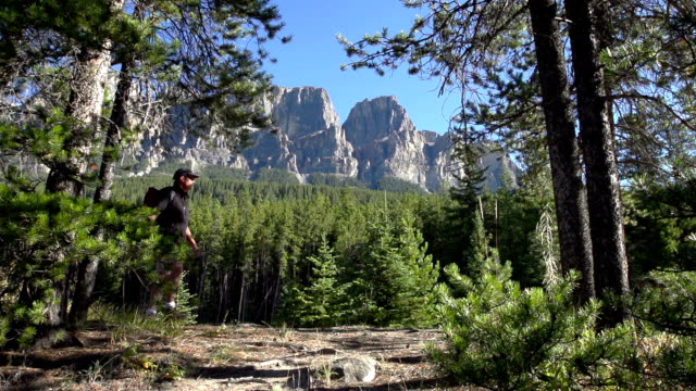 Man Hiking in the Rocky Mountains video