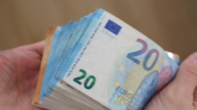 Man Holding Cash In Hands. Money, Wealth, Credit Concept
