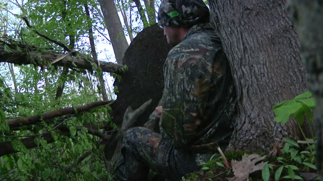 Man Hunting In Woods w/sound video