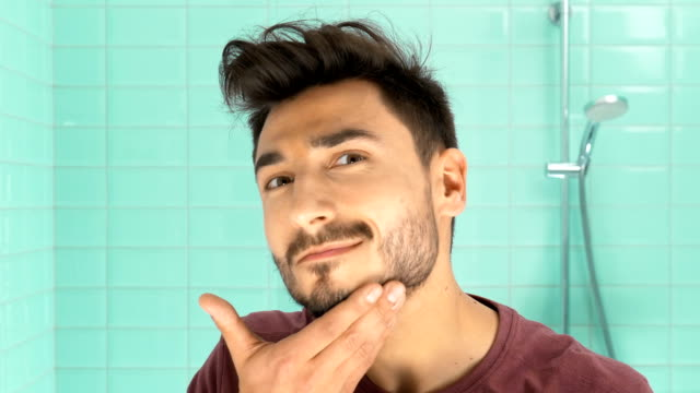 man in bathroom video
