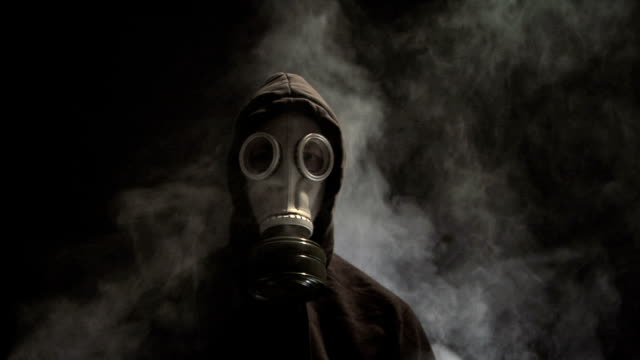 Man in Gas Mask video