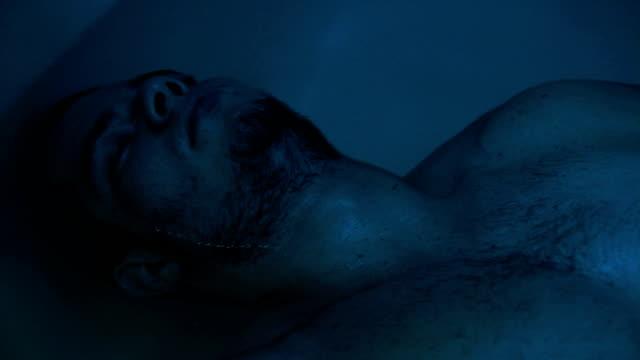 man inside sensory deprivation tank video