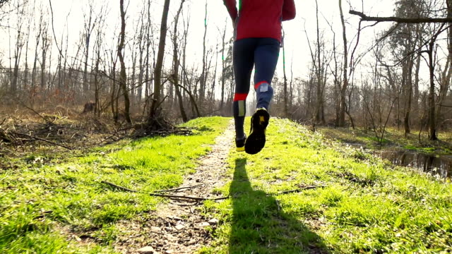 HD STEADY: Man Jogging In Nature video