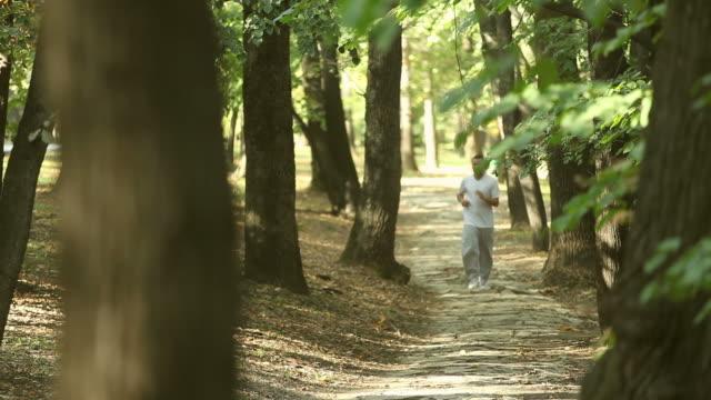 Man joging video
