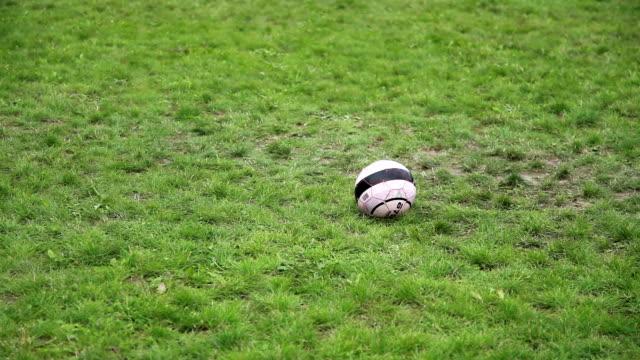 man kicking ball - bielorussia video stock e b–roll