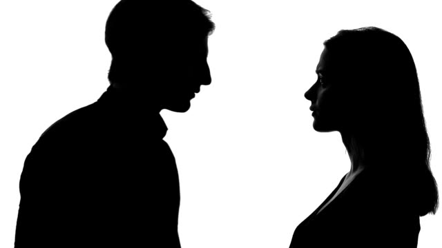 vídeos de stock e filmes b-roll de man leaving upset young woman, husband going away, couple break-up, divorce - separação