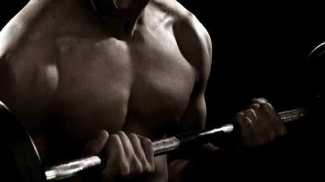 Man Lifting Weights video