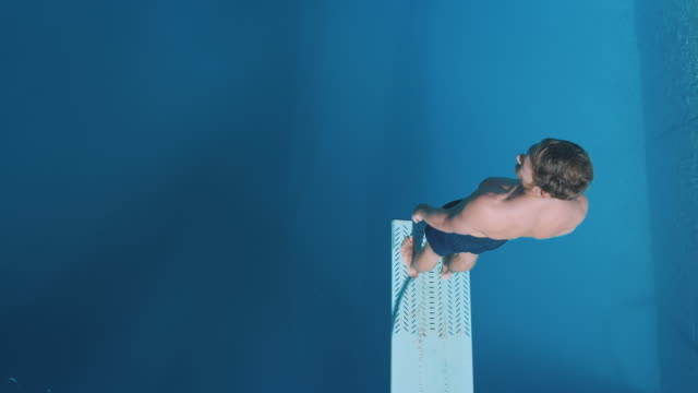 Man on diving board video
