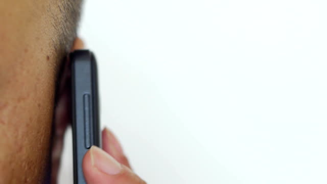 Man on the phone. Man on the phone.HD1080 ear stock videos & royalty-free footage