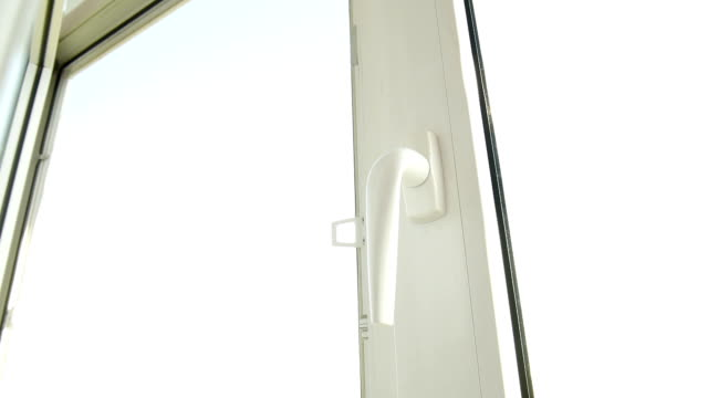 Man opens the window. – Video