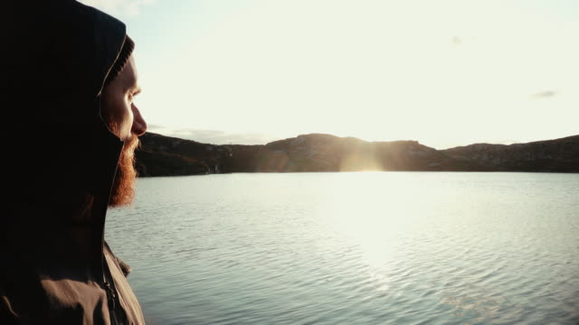 Man outdoor adventures: hiking in Norway