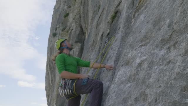 Man Outdoor Rock Climbing