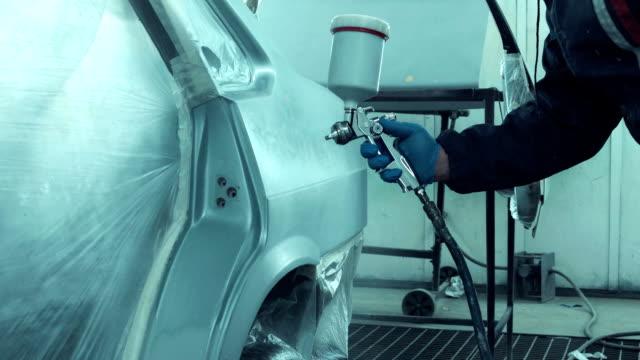 Man painting car door video