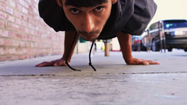 Man Performing Planche Move