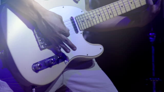 Man playing an Electric guitar video