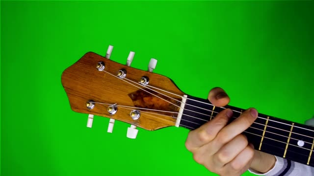 Man Playing On Guitar. video