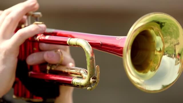 man playing trumpet video