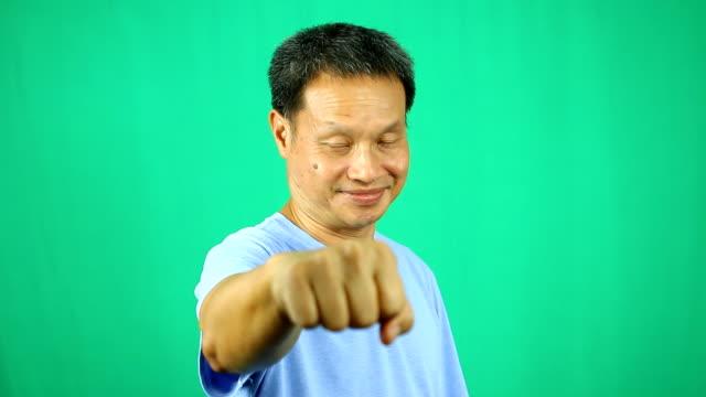 Man refusing shake hands but bumping punch