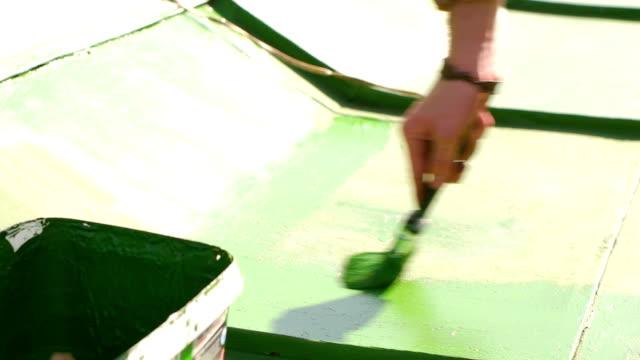 Man Repairing the Roof in the Spring Season video