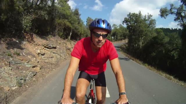 Man riding on Mountain Bike video