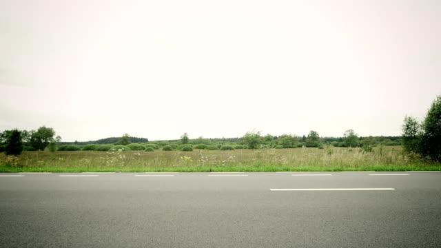 Man riding racing bike video