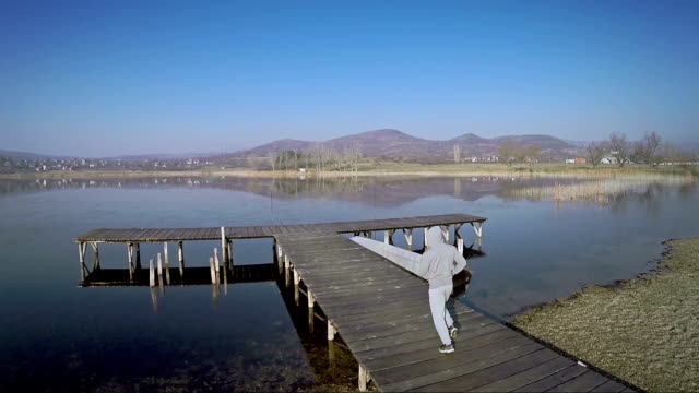 Man running outdoors video