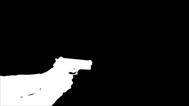 Man Shooting Gun - Silhouette video