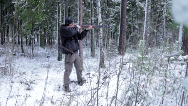 Man Shooting Rifle video