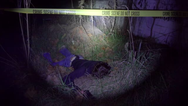 Man shot dead at crime scene at night Man shot dead at crime scene at night crime scene stock videos & royalty-free footage