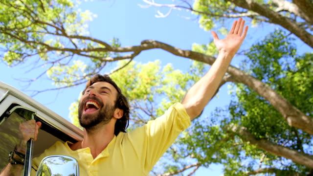 A man shouts in the van window video