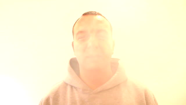 Man smoking cigarette video