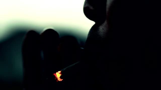 Man Smoking, Slow motion video